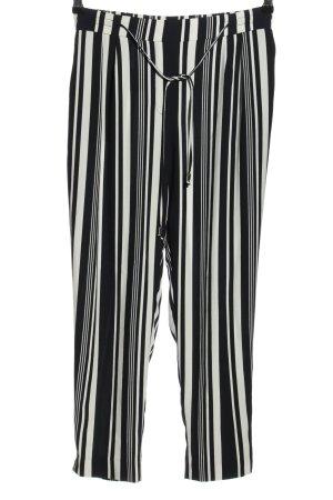 Zara Basic 7/8-Hose schwarz-weiß Allover-Druck Casual-Look