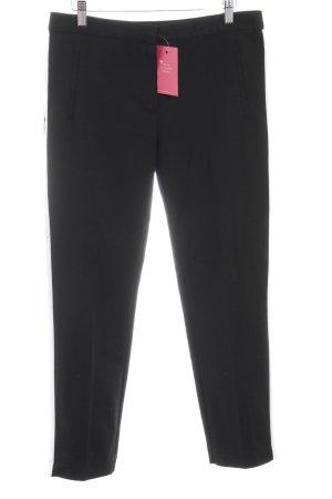 Zara Basic 7/8-Hose schwarz-weiß Business-Look