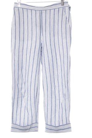 Zara Basic 7/8-Hose weiß-blau meliert Casual-Look