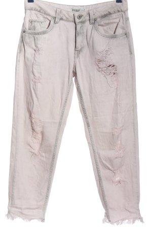 Zara Basic 7/8 Jeans wollweiß Casual-Look