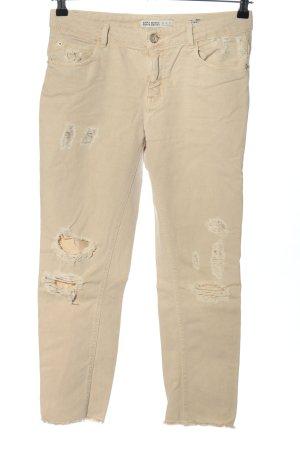 Zara Basic 7/8 Jeans creme Casual-Look