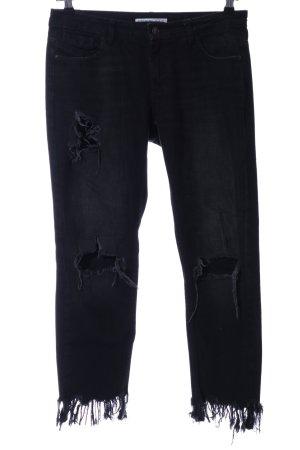 Zara Basic 7/8 Jeans schwarz Casual-Look