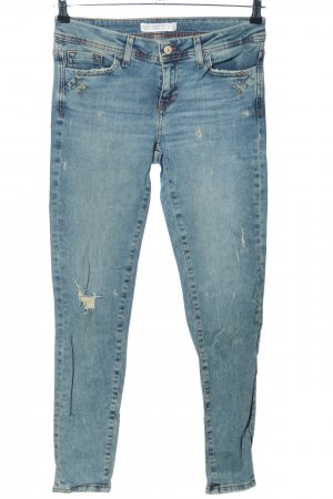 Zara Basic 7/8 Jeans blau Casual-Look