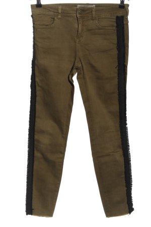 Zara Basic 7/8 Jeans braun Casual-Look