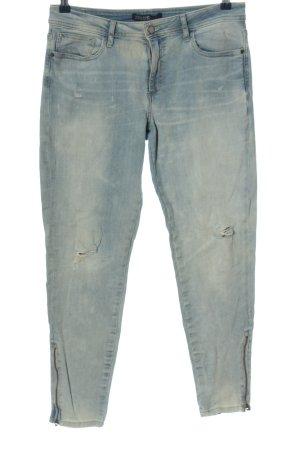 Zara Basic Jeansy 7/8 niebieski W stylu casual