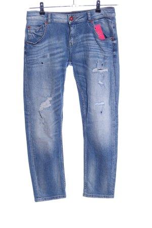 Zara Basic Jeans a 7/8 blu stile casual