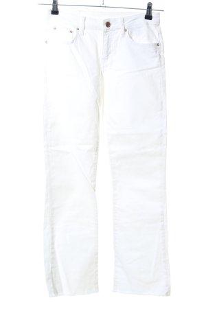 Zara Basic 7/8 Jeans weiß Casual-Look