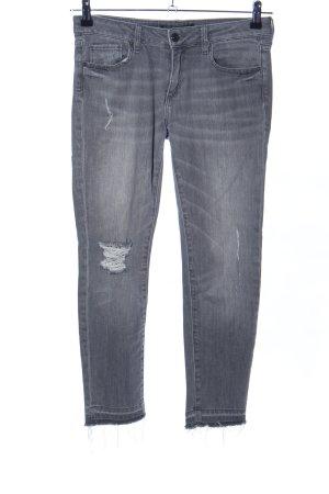 Zara Basic 7/8 Jeans hellgrau Casual-Look