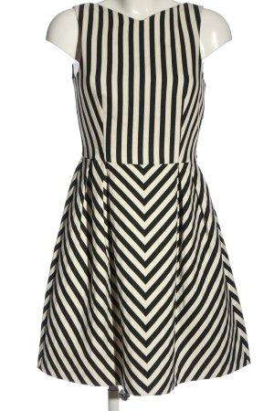 Zara Basic A-Linien Kleid schwarz-wollweiß Allover-Druck Elegant