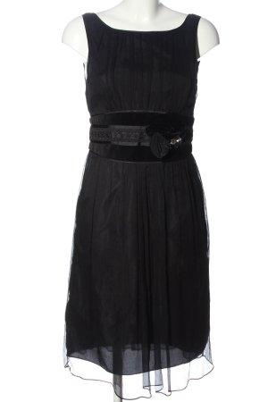 Zara Basic A-Linien Kleid schwarz Elegant