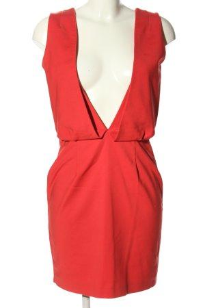 Zara Basic Blusenkleid rot Casual-Look