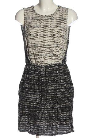 Zara Basic Blusenkleid schwarz-wollweiß Allover-Druck Casual-Look