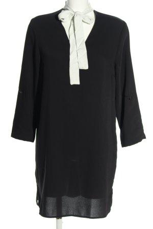 Zara Basic A-Linien Kleid schwarz-weiß Elegant