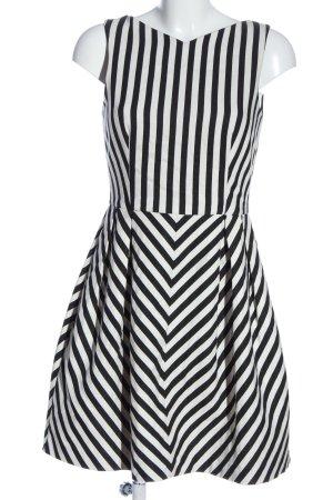 Zara Basic A-Linien Kleid schwarz-weiß Streifenmuster Casual-Look