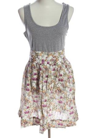 Zara Basic A-Linien Kleid Blumenmuster Casual-Look