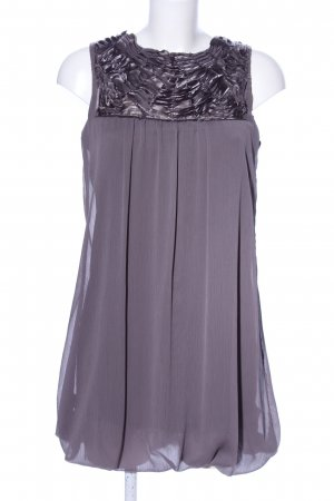 Zara Basic A-Linien Kleid hellgrau-silberfarben Elegant