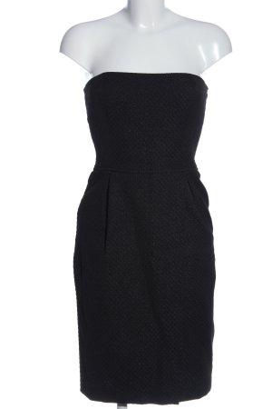 Zara Basic Bustierkleid schwarz Business-Look