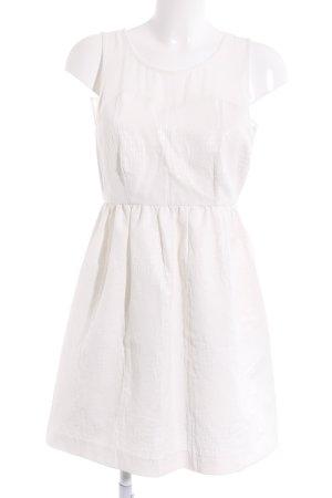 Zara Basic A-Linien Kleid weiß Street-Fashion-Look
