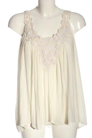 Zara Basic Top o kroju litery A w kolorze białej wełny W stylu casual