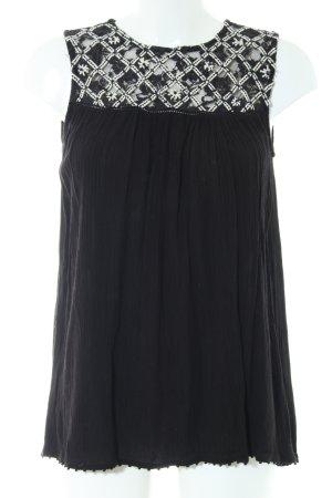 Zara Basic Top o kroju litery A czarny W stylu casual
