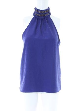 Zara Basic Top o kroju litery A niebieski Elegancki