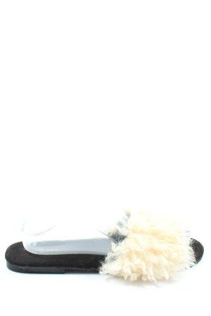 Zara Basic Heel Pantolettes cream-black casual look