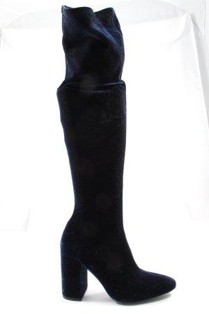 Zara Basic Absatz Stiefel blau Elegant