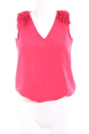 Zara Basic ärmellose Bluse pink Casual-Look
