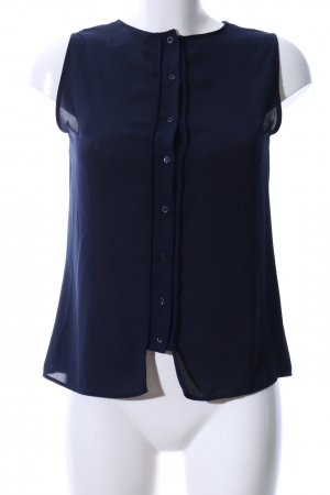 Zara Basic ärmellose Bluse blau Business-Look