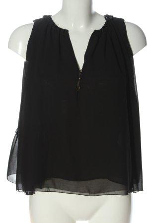 Zara Basic ärmellose Bluse schwarz Casual-Look