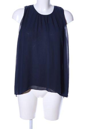 Zara Basic ärmellose Bluse blau Streifenmuster Business-Look