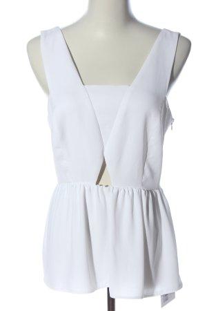 Zara Basic ärmellose Bluse weiß Elegant