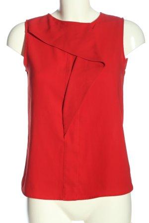 Zara Basic ärmellose Bluse rot Business-Look