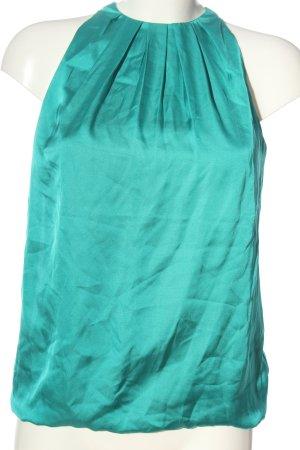 Zara Basic ärmellose Bluse türkis Elegant