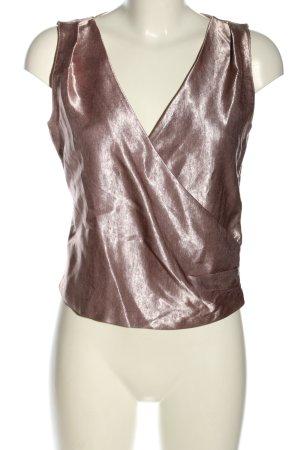 Zara Basic ärmellose Bluse silberfarben Elegant