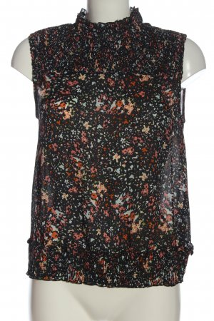 Zara Basic ärmellose Bluse abstraktes Muster Casual-Look