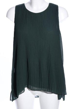 Zara Basic ärmellose Bluse grün Casual-Look