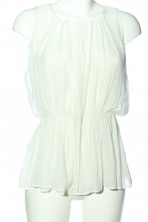 Zara Basic ärmellose Bluse weiß Business-Look