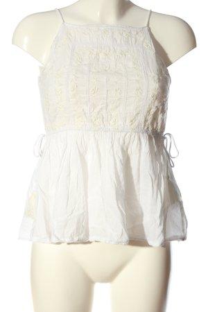 Zara Basic ärmellose Bluse weiß-creme Casual-Look