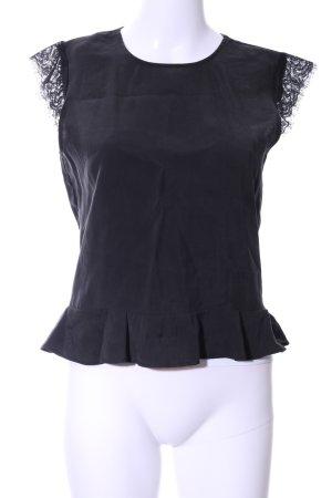 Zara Basic ärmellose Bluse schwarz Business-Look