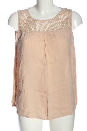 Zara Basic ärmellose Bluse nude Casual-Look