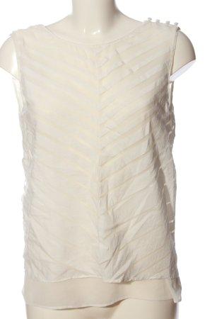 Zara Basic ärmellose Bluse weiß Streifenmuster Casual-Look