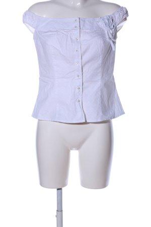 Zara Basic ärmellose Bluse weiß Punktemuster Casual-Look