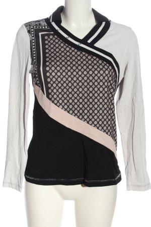 Zara Basic Schlupf-Bluse grafisches Muster Casual-Look