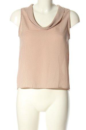 Zara Basic ärmellose Bluse nude-schwarz Allover-Druck Casual-Look