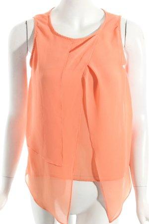 Zara Basic ärmellose Bluse orange Casual-Look