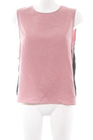 Zara Basic ärmellose Bluse roségoldfarben-schwarz Casual-Look