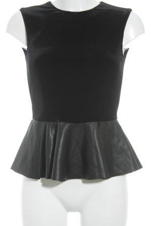 Zara Basic ärmellose Bluse schwarz