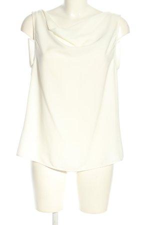 Zara Basic ärmellose Bluse weiß Casual-Look