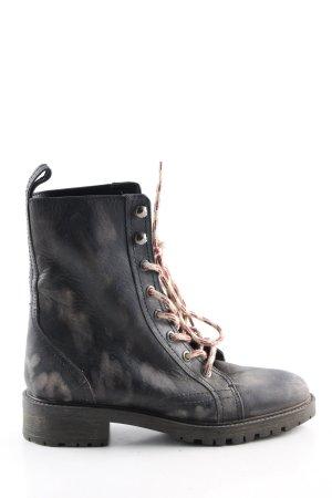 Zara Basic Ankle Boots schwarz Casual-Look